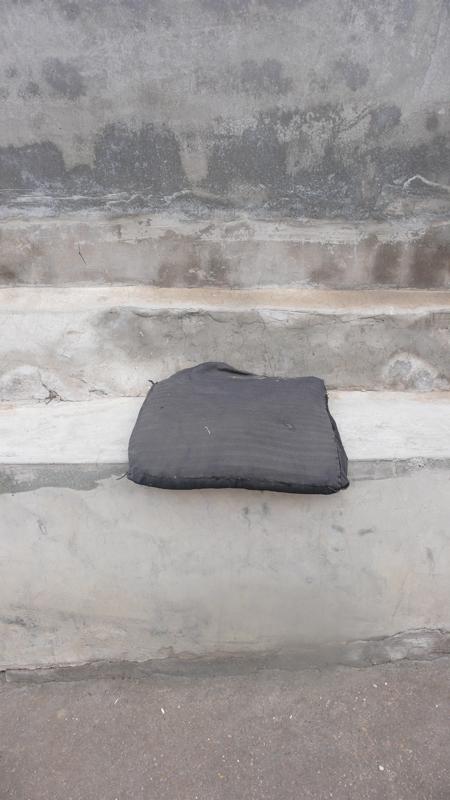 cushion on bench ledge