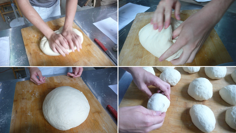 making the pizza dough