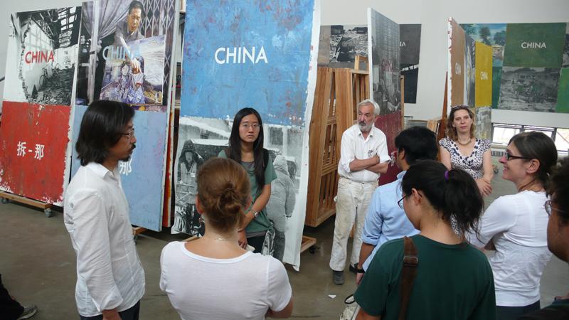 Huang Rui studio visit
